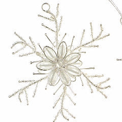 Twisted Snowflake Ornament in Silver