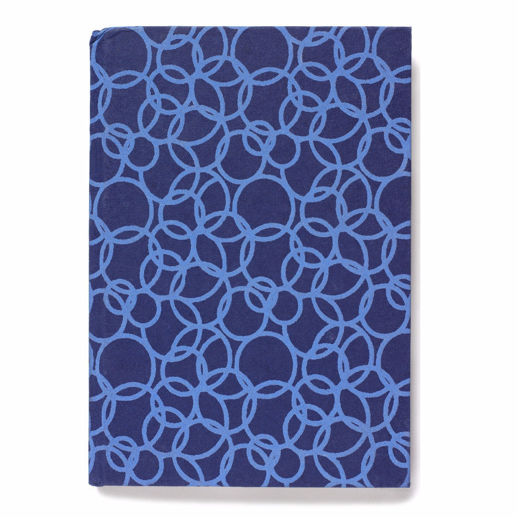 Recycled Cotton Journal in Blue- 4