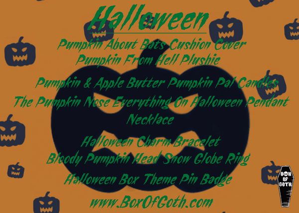 Halloween product list