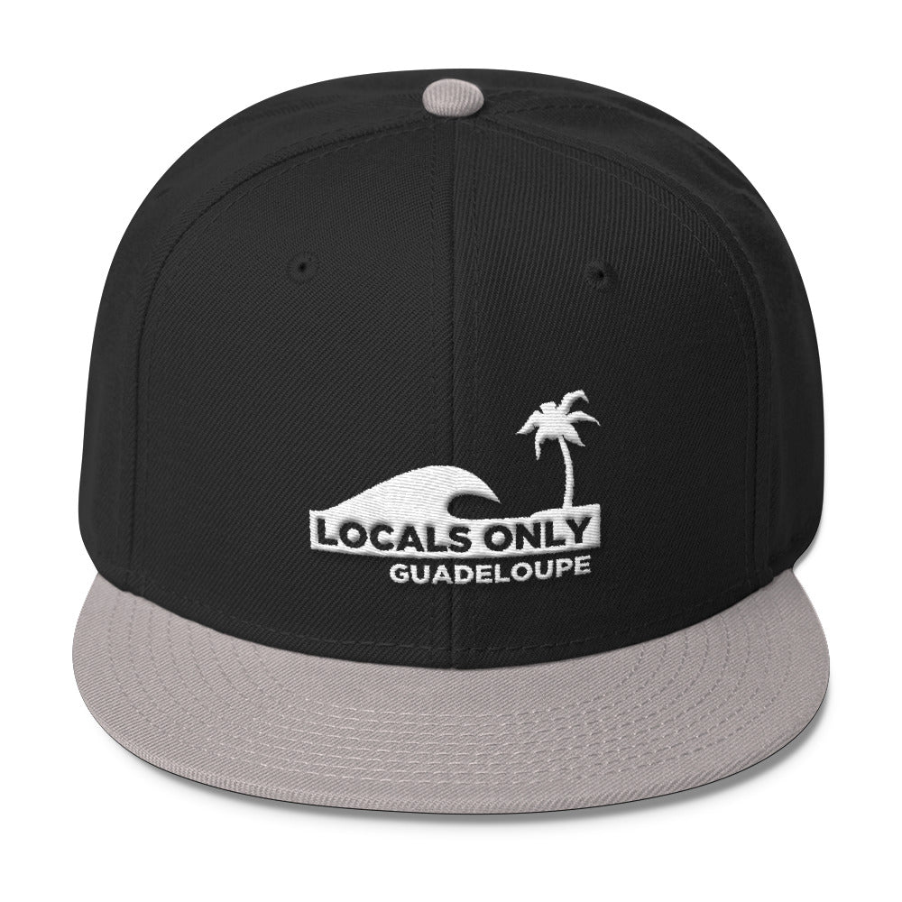 26d8b9ac2a7 GUADELOUPE    Wool Blend Snapback – Locals Only Design