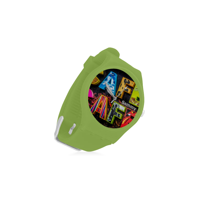Cafe-Signal-Wall-Women-GREEN Watch