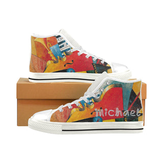Canvas Shoes Music guitar horns colorful - Men