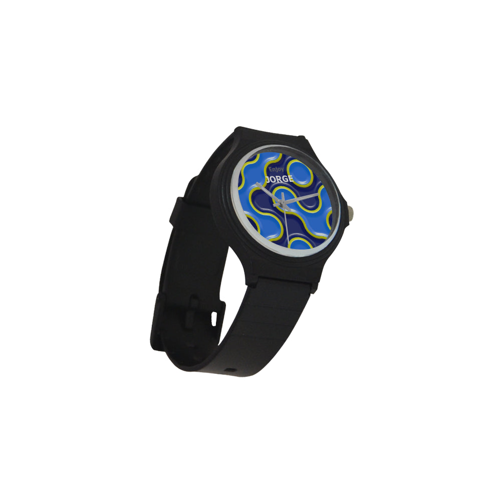 Blue and Yellow - Men's Sport Watch
