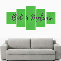 Wall Art Prints - 5-Pieces - Green - (No Frame)