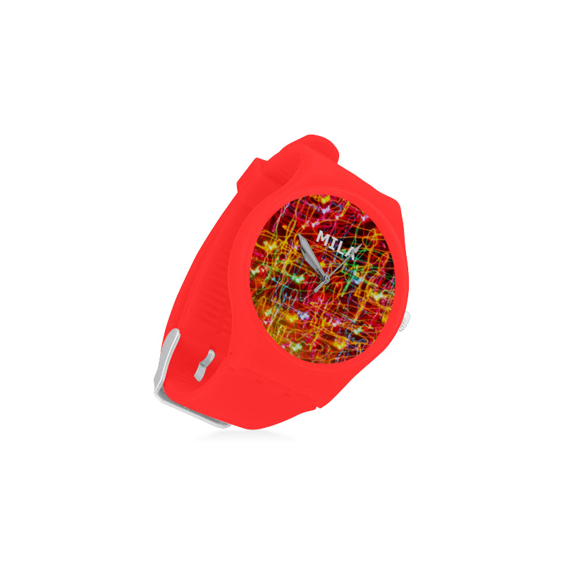 Light-Colorful-Women-RED Watch