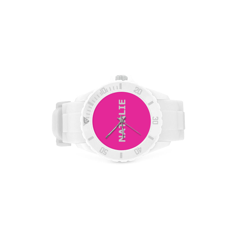WHITE - PINK- KIDS - Girl - Sport  Watch