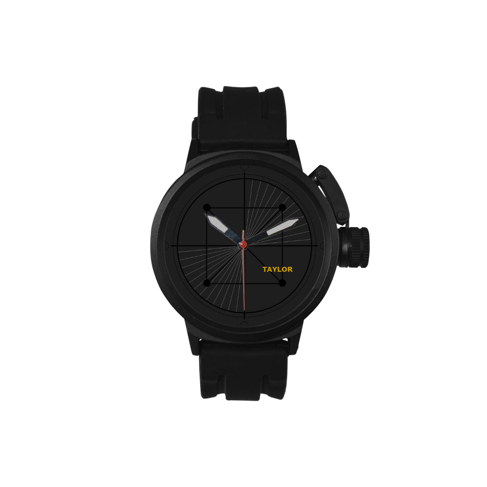 BLACK AND NAME - Men's Sport Watch