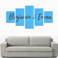 Wall Art Prints - 5-Pieces - Blue - (No Frame)