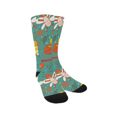 Socks - Animal bees floral dots Sublimated Crew - Women