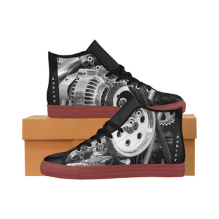 Engine- Red - Women Aquila High Top Action Leather