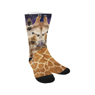 Socks - Animal giraffes cute Sublimated Crew - Women - Man