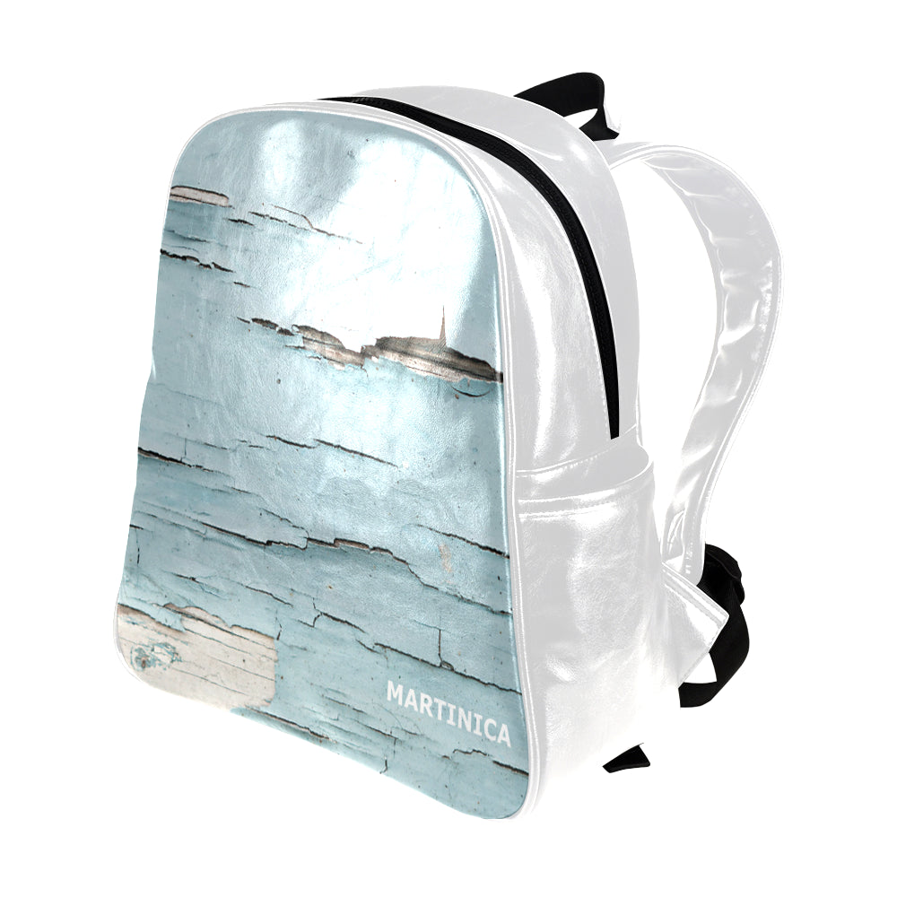 Cracked Paint - Multi-pocket Backpack- Women