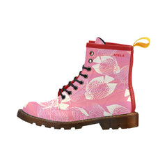 Animal fishes pink Martens Leather - Women& - Personalize with your name!