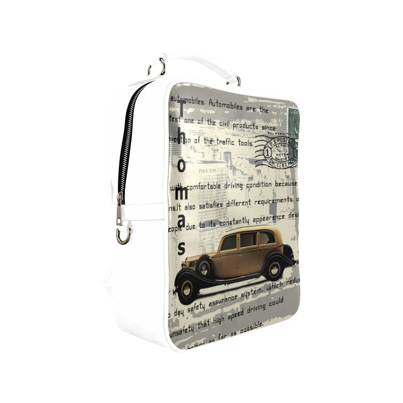 Backpack transport car antique vintage sedan - Square