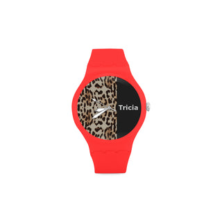Leopard-Mixed Background-Women-RED Watch