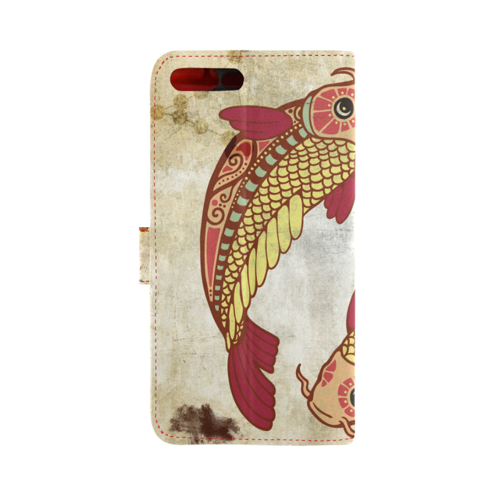Horoscope Zodiac Pisces Vintage Fish Animal IPhone 7 Plus Case - With Your Name!!