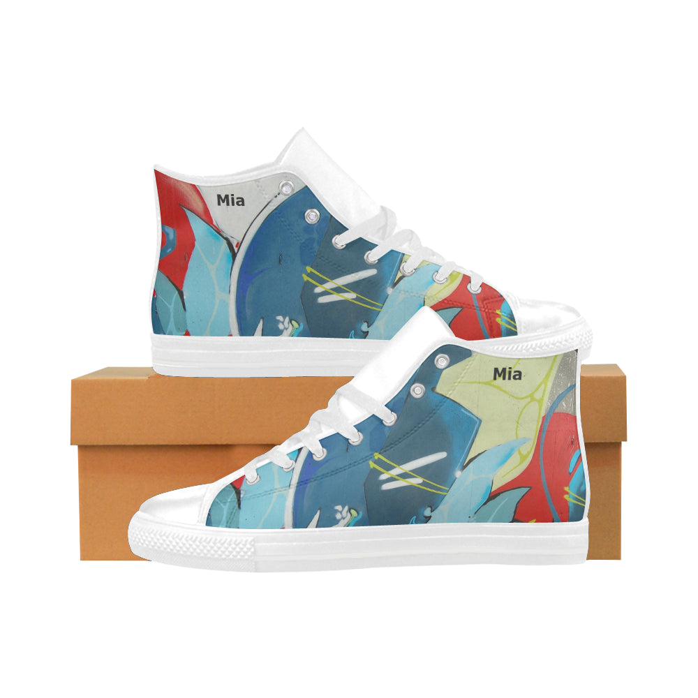 multicolor-style 3-women Aquila High Top Action Leather Women's Shoes (Model032)