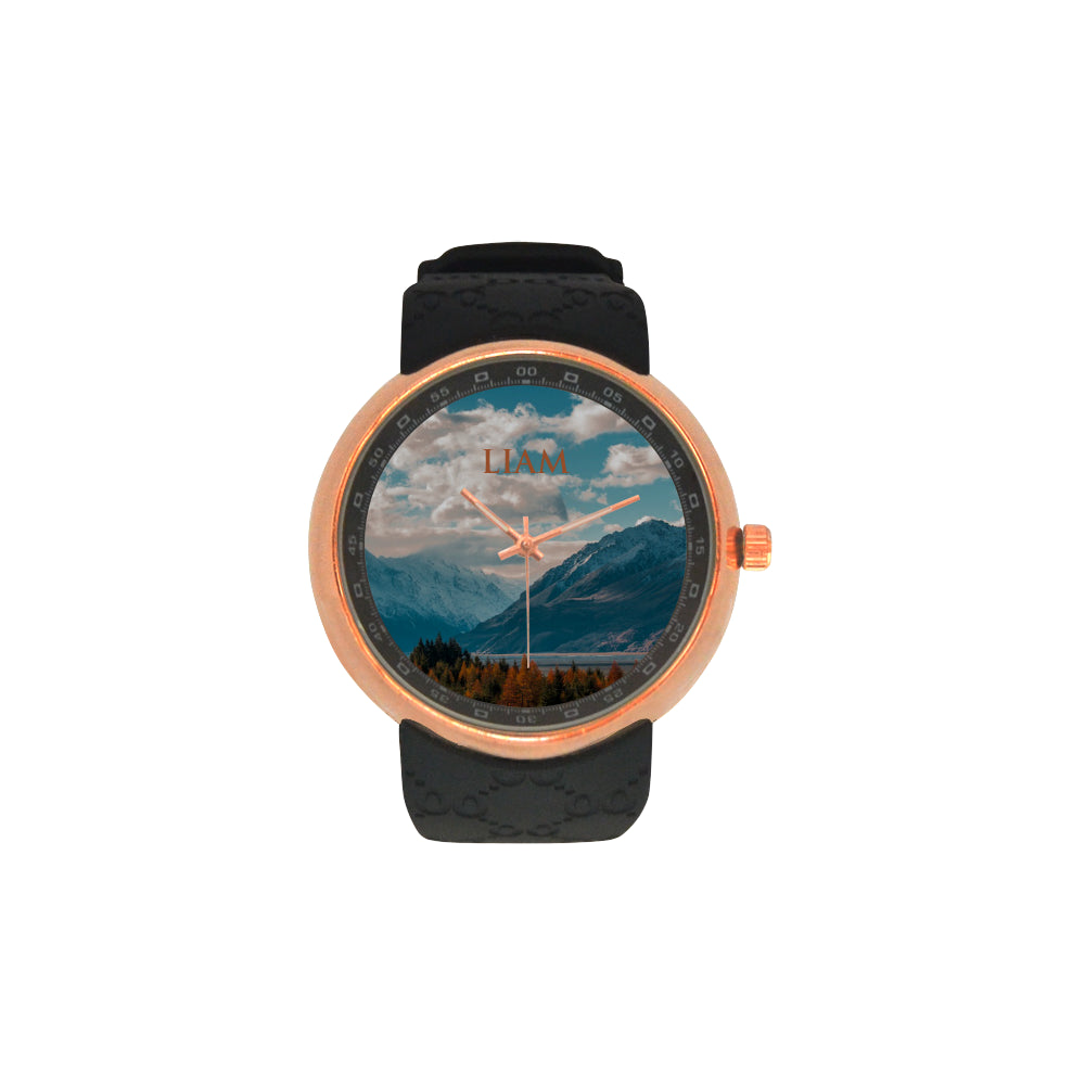 Mountain - Nature - Realistic - Landscape - Sky- Men's Watch