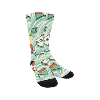 Socks - Animal fishes stripes vivid Sublimated Crew - Women / Men