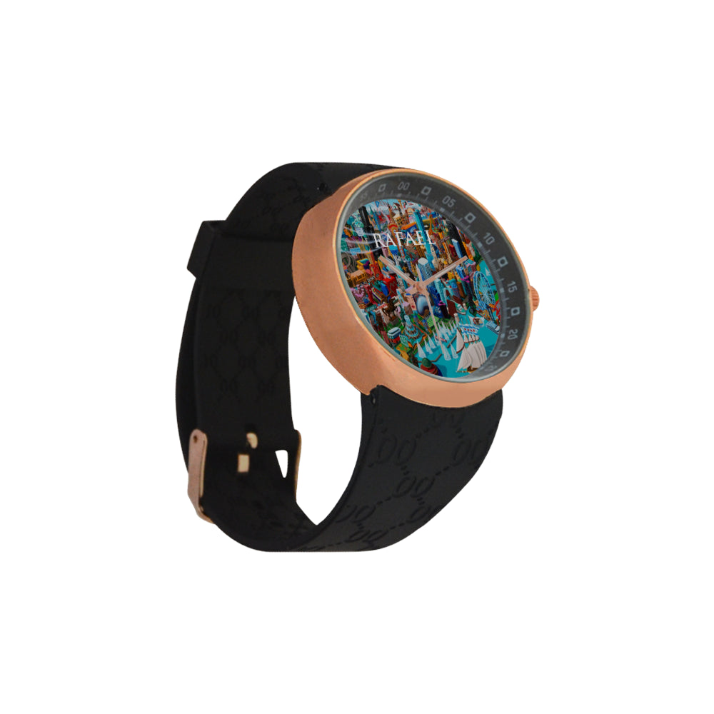 Artistic-Oil Painting - Colorful - Men's  Watch