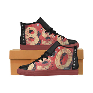 METAL-RED-WOMEN Aquila High Top Action Leather
