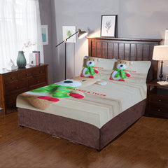 Christmas Bear - 3-Piece Bedding Set (One Side)