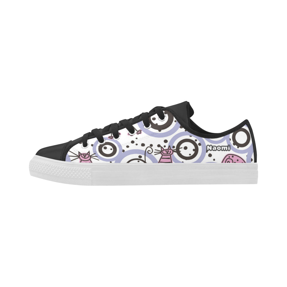 Animal Cats - Circles -Dots Cute Action Leather - Women