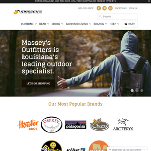 We're updating the MasseysOutfitters.com site to better serve local customers in New Orleans, Metairie, Baton Rouge, and Covington.
