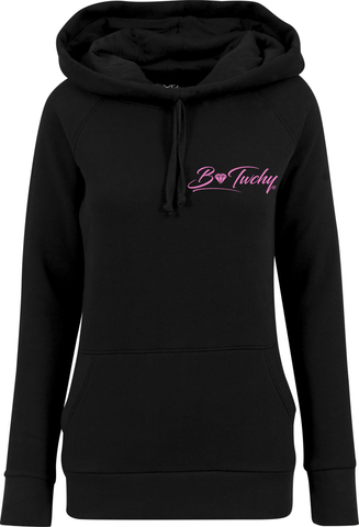 Ladies High Neck Hoodie - Black