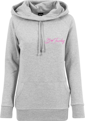 Ladies High Neck Hoodie - Grey