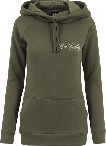Ladies High Neck Hoodie - Olive