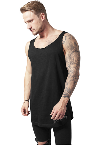 Long Shape Open End Loose Tank - Black