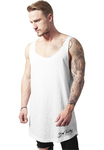 Long Shape Open End Loose Tank - White