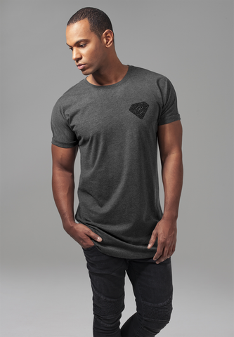 Long Shaped Turnup Tee - Charcoal
