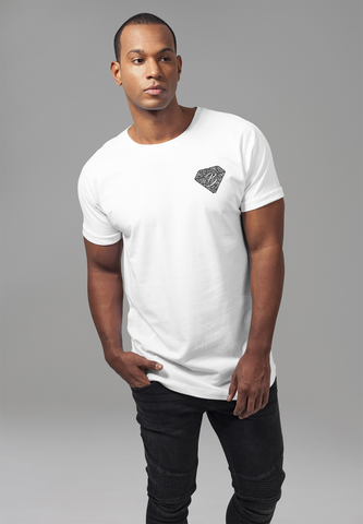 Long Shaped Turnup Tee - White