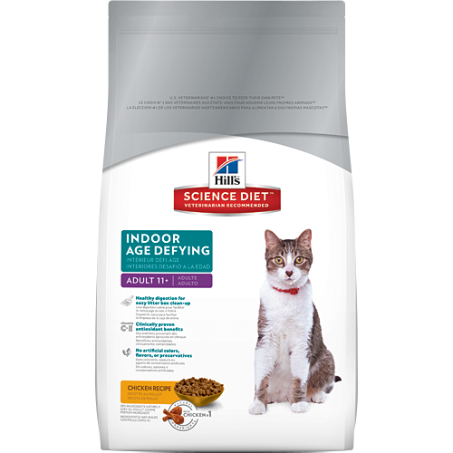 Hill's Science Diet Adult 11+ Indoor Age Defying Feline Dry