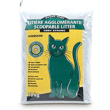 Litter Scoopable Green Cat Very Strong Unscented Bag / 14kg