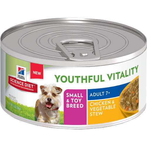 Hill's Science Diet Youthful Vitality Adult 7+ Small & Toy Breed Canine Canned