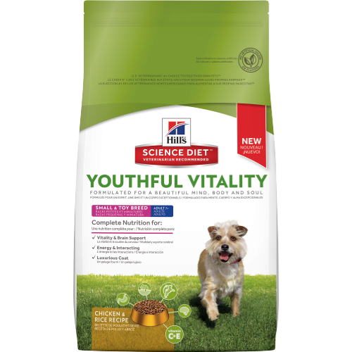 Hill's Science Diet Youthful Vitality Adult 7+ Small & Toy Breed Canine Dry