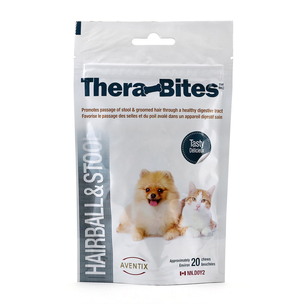 Thera-Bites Hairball & Stool Chews for Cats and Dogs 20 chews (Bag)