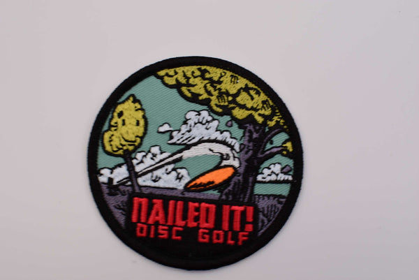 Nailed It Disc Golf Iron On Patch - Mike Inscho Design