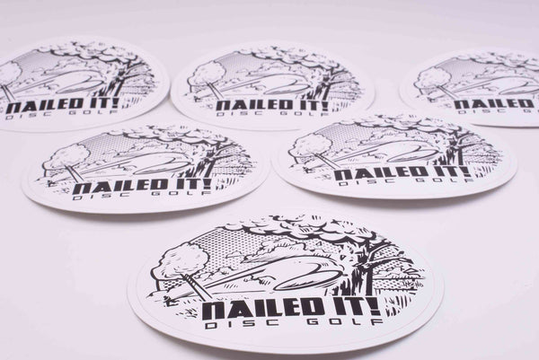 Nailed It Disc Golf Stickers