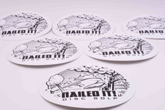 Nailed It Disc Golf Stickers - Nailed It Disc Golf