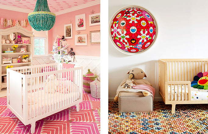 Nurseries of Kourtney Kardashian as featured by PopSugar and KAWS as featured by Architectural Digest