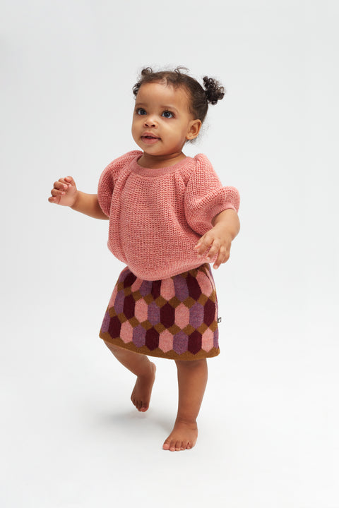 Diamond Pattern Skirt - Oeuf LLC