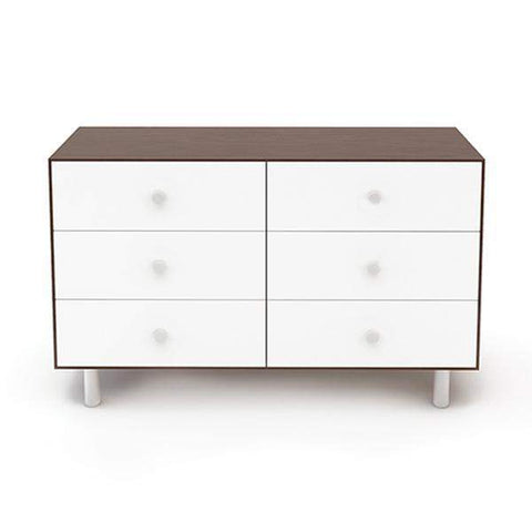 6 Drawer Dresser - Classic-White/Walnut-Oeuf LLC