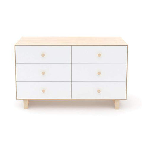 6 Drawer Dresser - Rhea-White/Birch-Oeuf LLC