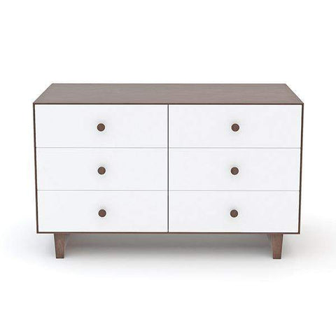 6 Drawer Dresser - Rhea-White/Walnut-Oeuf LLC