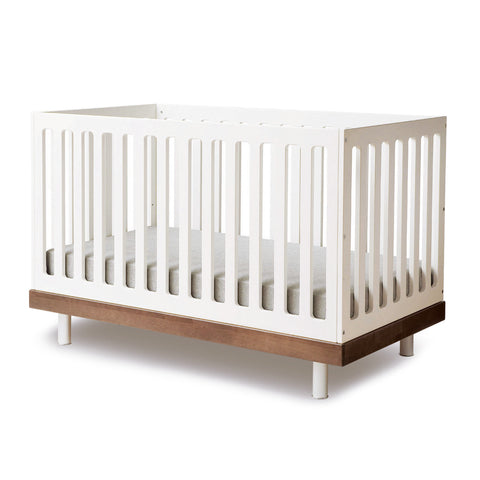 Classic Crib-White/Walnut-Oeuf LLC