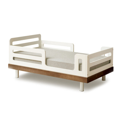 CLASSIC TODDLER BED-White/Walnut-Oeuf LLC